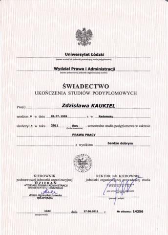 certyfikat księgowa Z Kaukiel Egida 3
